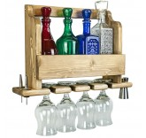 """Полка для бутылок и фужеров Home Comfort """"Wine Lux"""" + 3 диспенсера и джигер"""