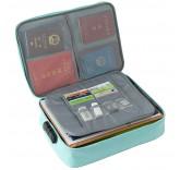 Дорожная сумка для ручной клади и документов с кодовым замком, цвет бирюза