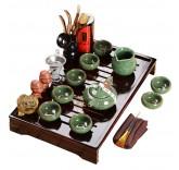"""Набор для чайной церемонии MaxxMalus """"Малахитовый цветок"""", 17 предметов Уцененный"""