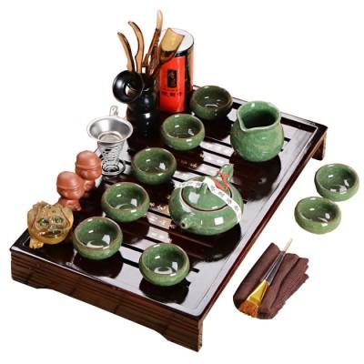 """Купить Набор для чайной церемонии MaxxMalus """"Малахитовый цветок"""", 17 предметов Уцененный с доставкой по России"""
