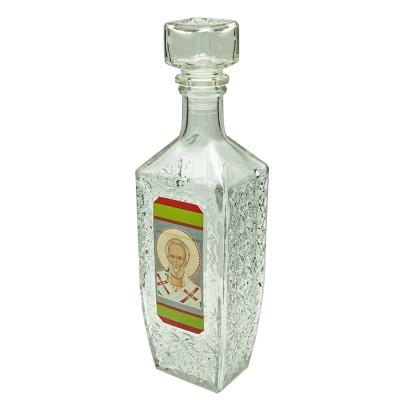 Купить Графин-штоф для святой воды Николай Чудотворец, 500 мл с доставкой по России