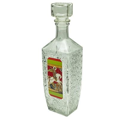 Купить Графин-штоф для святой воды Георгий Победоносец, 500 мл с доставкой по России