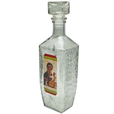 Купить Графин-штоф для святой воды Казанская икона Божией Матери, 500 мл с доставкой по России