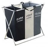 """Корзина для белья с тремя отделениями Home Comfort """"Уют"""", темное, светлое и цветное белье"""