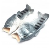 Тапочки шлепанцы в форме рыбы (серые)