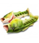 Тапочки шлепанцы в форме рыбы (зеленые)