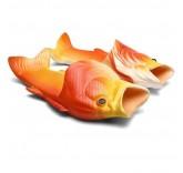 Тапочки шлепанцы в форме рыбы (красные)