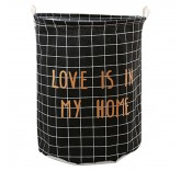 Корзина для белья Love Is In My Home (350*450мм) черная