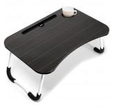"""Столик-подставка для завтрака, ноутбука, планшета Home Comfort """"Good Morning"""", цвет черный Уцененный"""