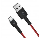Кабель Xiaomi ZMI USB - Type-C Kevlar Cable Red 200 см (AL431)