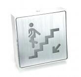 LED табличка из алюминия Спуск вниз