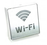 LED табличка из алюминия Wi-Fi
