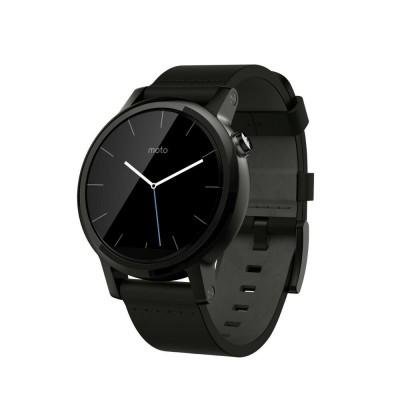 Купить Умные часы Motorola Moto 360 v2 men's 42mm leather (Black) с доставкой по России