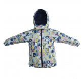 """Демисезонная куртка для девочек  """"Алфавит"""""""