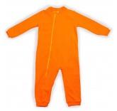 Комбинезон флисовый на молнии, цвет оранжевый