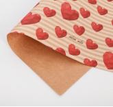 Подарочная упаковка крафтовая Люблю тебя