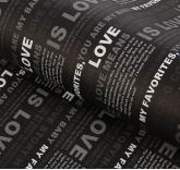 Подарочная упаковка Газета (черная)