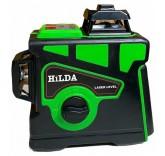 Лазерный уровень/нивелир Hilda 3d/360 зелёный