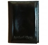 Кожаная обложка для паспорта и автодокументов Matoon черный глянец
