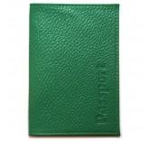 Кожаная обложка для паспорта Matoon зеленая