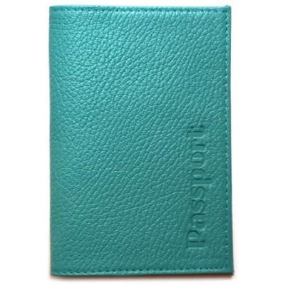 Купить Кожаная обложка для паспорта Matoon бирюзовая с доставкой по России