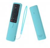 Силиконовый чехол с ремешком Sikai Case для пульта Xiaomi Mi Box S (бирюзовый)