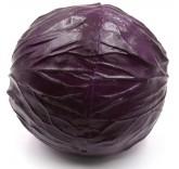 Искусственная капуста краснокочанная для фотосъемки и декора, муляж овощей 10 см