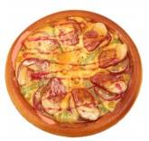 Искусственная пицца с мясом для фотосъемки и декора, муляж выпечки 17 см