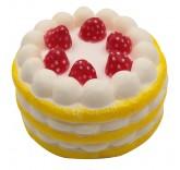 Искусственное лимонное пирожное для фотосъемки и декора, муляж пирожного 6,5 см