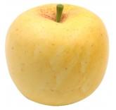 Искусственное яблоко желтое для фотосъемки и декора, муляж фруктов 7 см