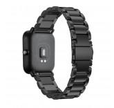 Металлический браслет для Xiaomi Amazfit Bip (черный)