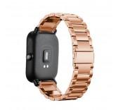 Металлический браслет для Xiaomi Amazfit Bip (розовое золото)