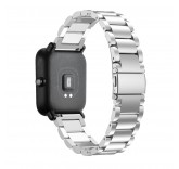 Металлический браслет для Xiaomi Amazfit Bip (серебро)