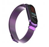 Сетчатый браслет с магнитной застежкой для Xiaomi Mi Band 4 (фиолетовый)