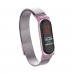 Сетчатый браслет с магнитной застежкой для Xiaomi Mi Band 4 (фиолетово-пудровый)