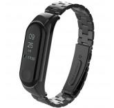 Стальной браслет для Xiaomi Mi Band 3 черный