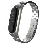 Стальной браслет для Xiaomi Mi Band 3 серебро