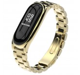 Стальной браслет для Xiaomi Mi Band 3 золото