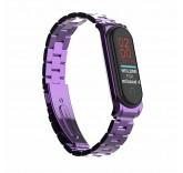 Стальной браслет для Xiaomi Mi Band 4 (фиолетовый)
