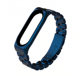 Стальной браслет для Xiaomi Mi Band 4 (синий)