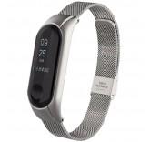 Стальной сетчатый браслет для Xiaomi Mi Band 3 (Серебро)