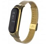 Стальной сетчатый браслет для Xiaomi Mi Band 3 (Золото)