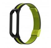Стальной сетчатый браслет для Xiaomi Mi Band 4 (Черно-зеленый)