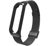 Стальной сетчатый браслет для Xiaomi Mi Band 4 (Черный)