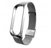 Стальной сетчатый браслет для Xiaomi Mi Band 4 (Серебро)