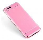 Силиконовый чехол-бампер с рамкой для Xiaomi Mi6 (Розовый)