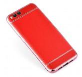 Силиконовый чехол-бампер с рамкой для Xiaomi Mi6 (Красный)