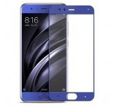 Защитное стекло с рамкой для Xiaomi Mi6 (Blue)