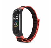 Нейлоновый ремешок для Xiaomi Mi Band 4 (черно-красный)