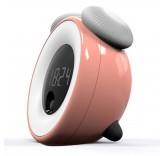 Будильник с ночником и датчиком движения (розовый)